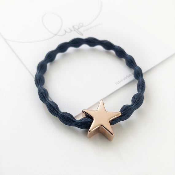 Lupe Hair Bracelet - Star Navy Rose Gold