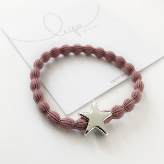 Lupe Hair Bracelet - Star Blush Silver