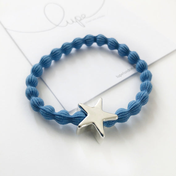 Lupe Hair Bracelet - Star Denim Silver