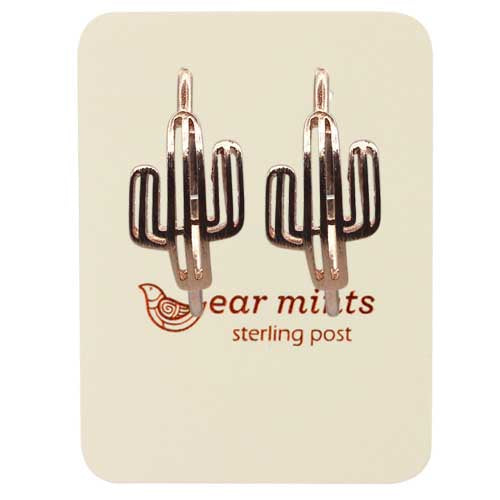 Fabienne - Brushed Cactus Hoop Earrings - Rose