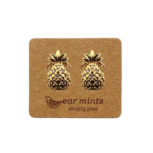 Fabienne - Cubic Pineapple Earrings - Gold