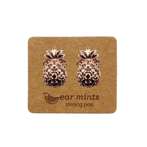 Fabienne - Cubic Pineapple Earrings - Rose