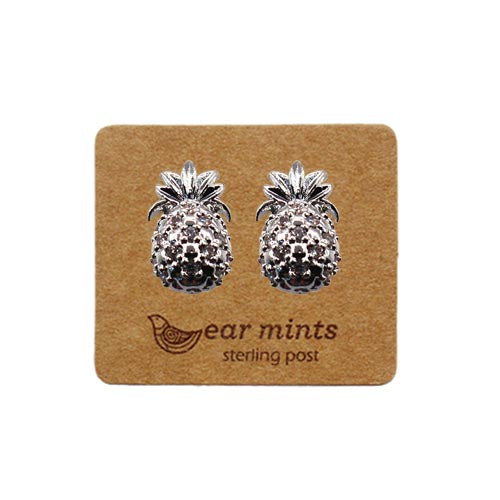 Fabienne - Cubic Pineapple Earrings - Silver