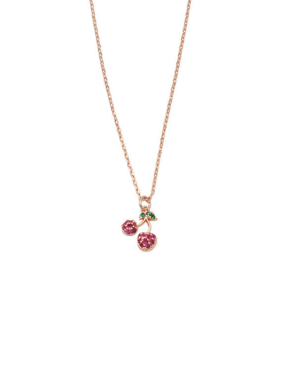 Very Cherry Crystal Necklace