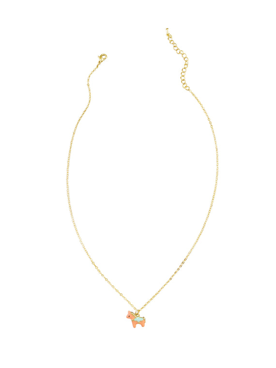 Little Peach Pony Necklace