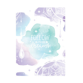 Harper Bee Book Cover A4 - Boho Watercolour Crystal