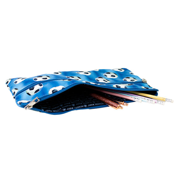 2 Zip Pencil Cases - Soccer Star