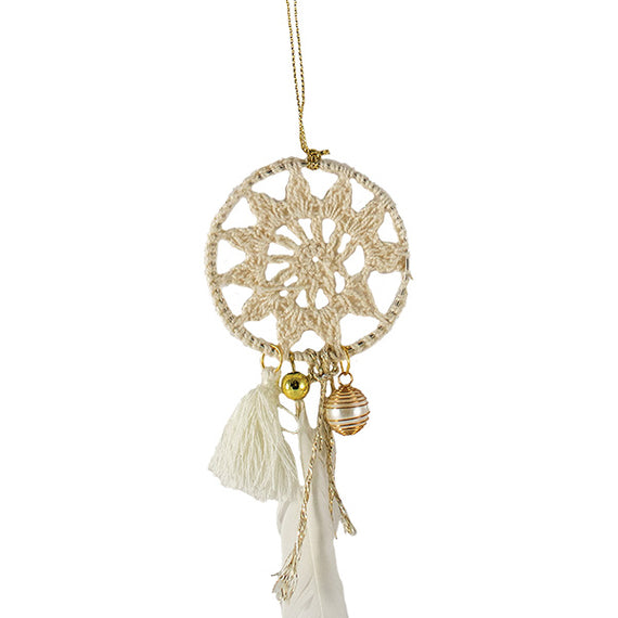 Xmas Hanging Dreamcatcher - White