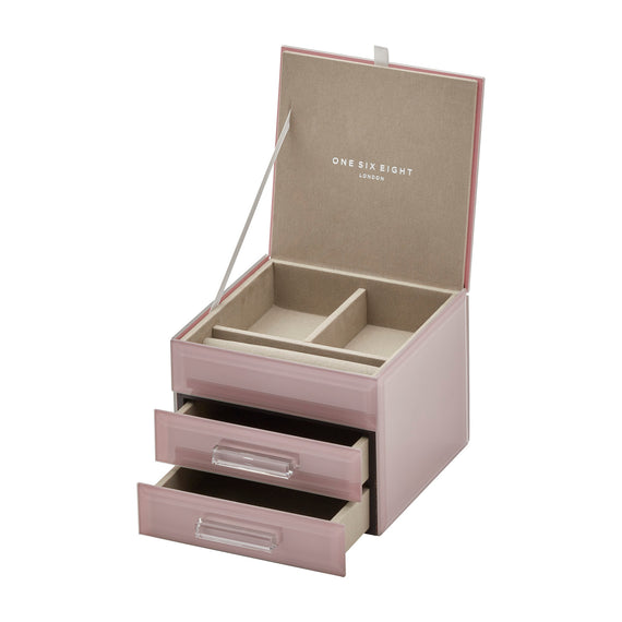 Gabriella Dusty Rose Medium Jewellery Box