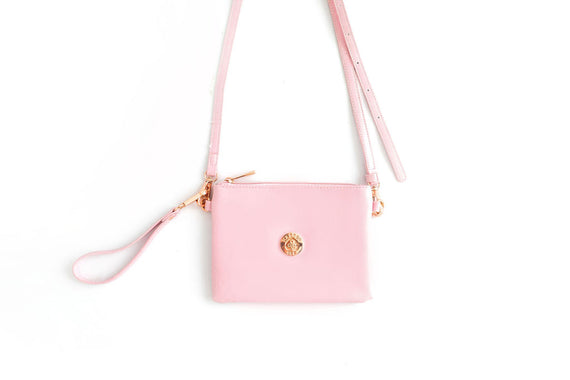 Harper Bee Pouch / Crossover Bag - Pink