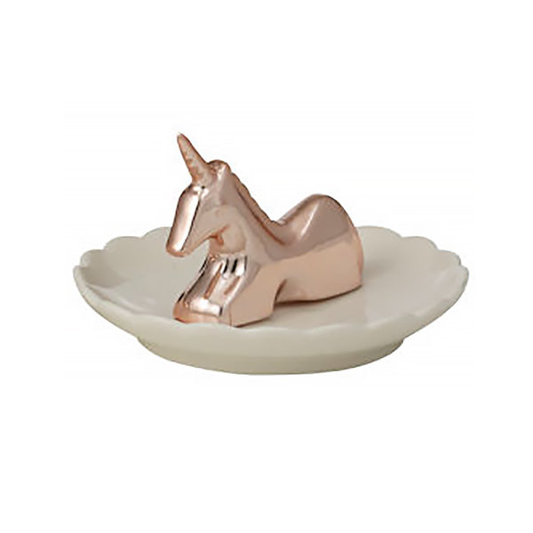 Trinket Plate - Rose Gold Unicorn