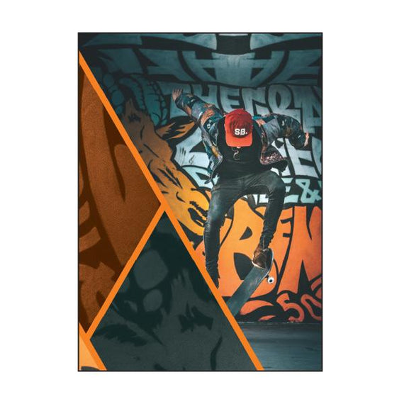 Exercise Book Cover - Graffiti Skate