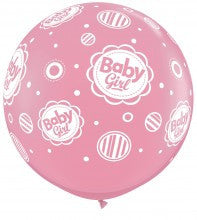 "Balloon:  Baby Girl 36"" Latex Balloon"