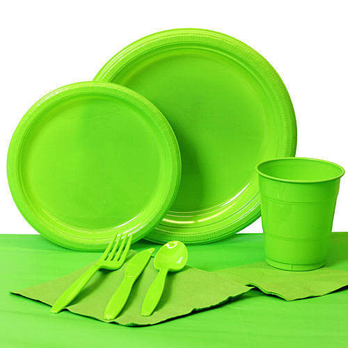 Tableware:  Lime Party Pack