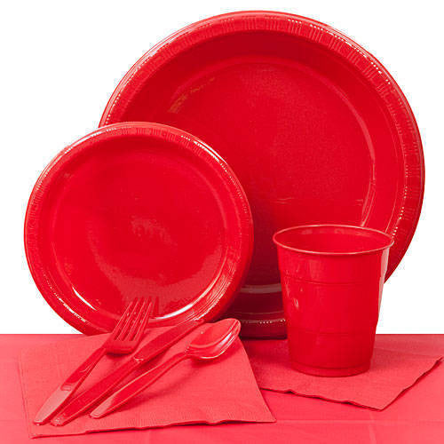 Tableware:  Red Party Pack