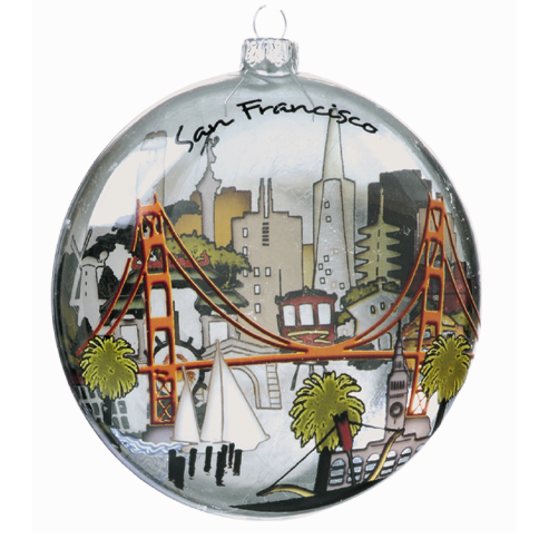 San Francisco:  The City Glass Ornament
