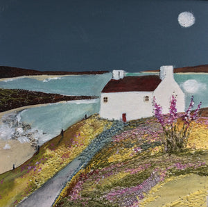 "Mixed Media Art By Louise O'Hara - ""Foxglove Cottage"""