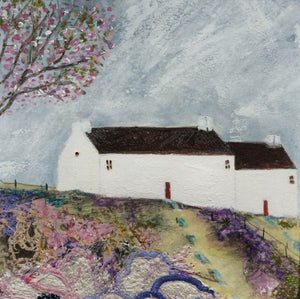 "Mixed Media Art print work by Louise O'Hara ""A calm summers day"""