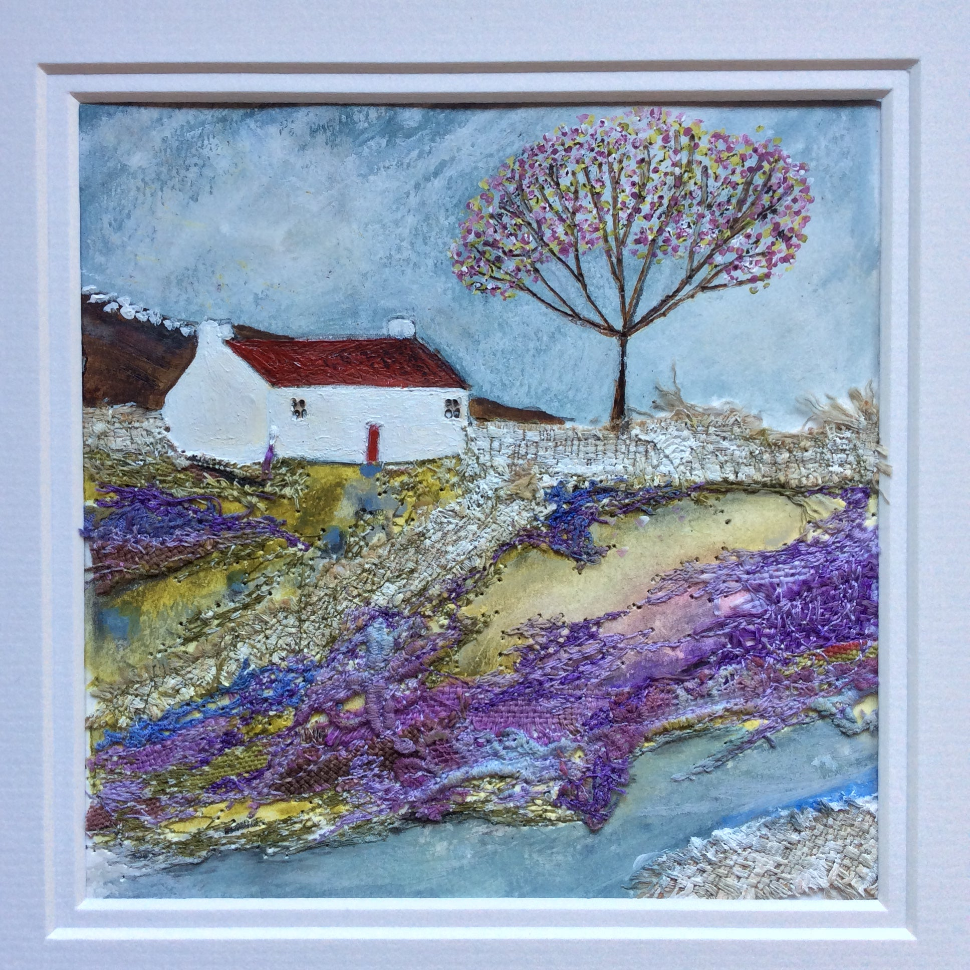 "Mixed Media Art By Louise O'Hara - ""Meadow View"""