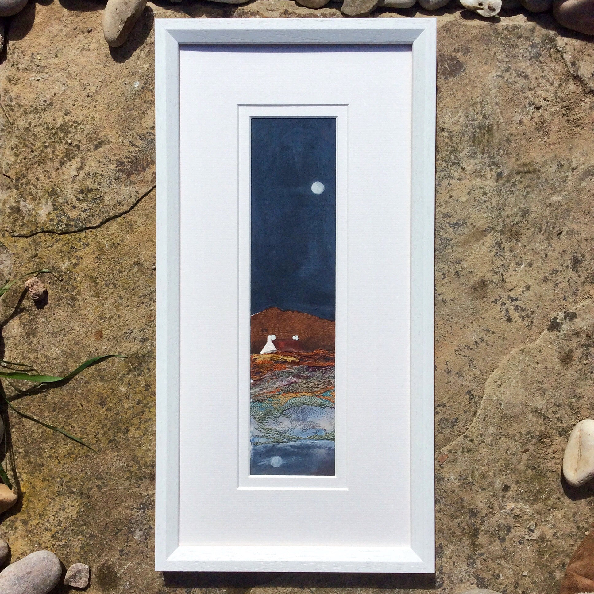 "Mixed Media Art work by Louise O'Hara ""Copper times by the light of the moon"""