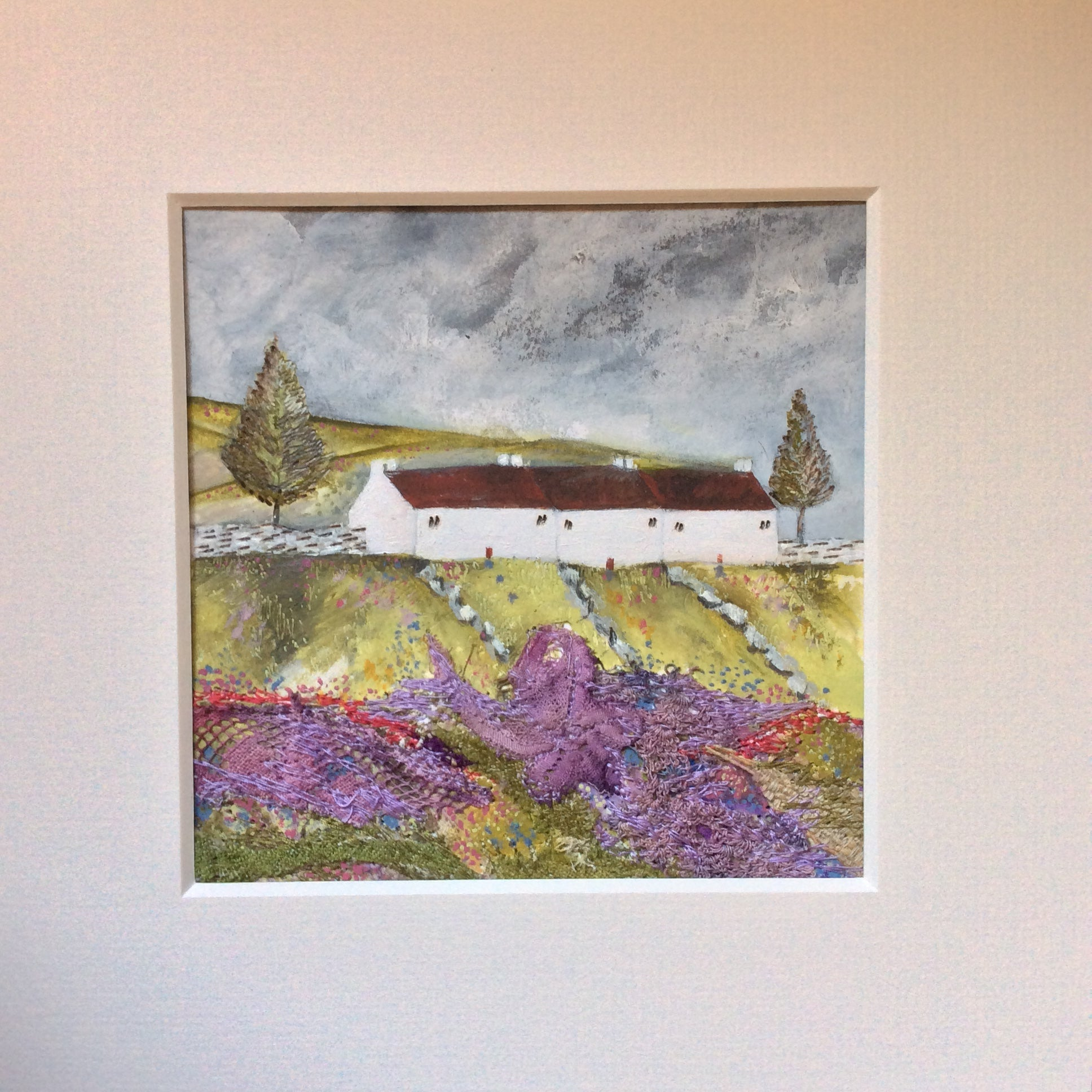 "Mixed Media Art By Louise O'Hara ""Three Cottage Lane"""