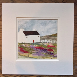 "Mixed Media Art print work by Louise O'Hara ""Plough cottage"""