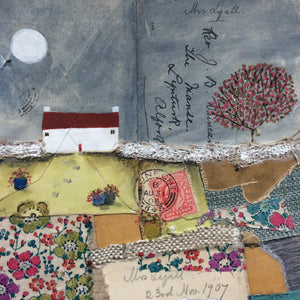"Mixed Media Art By Louise O'Hara ""A patchwork garden"""