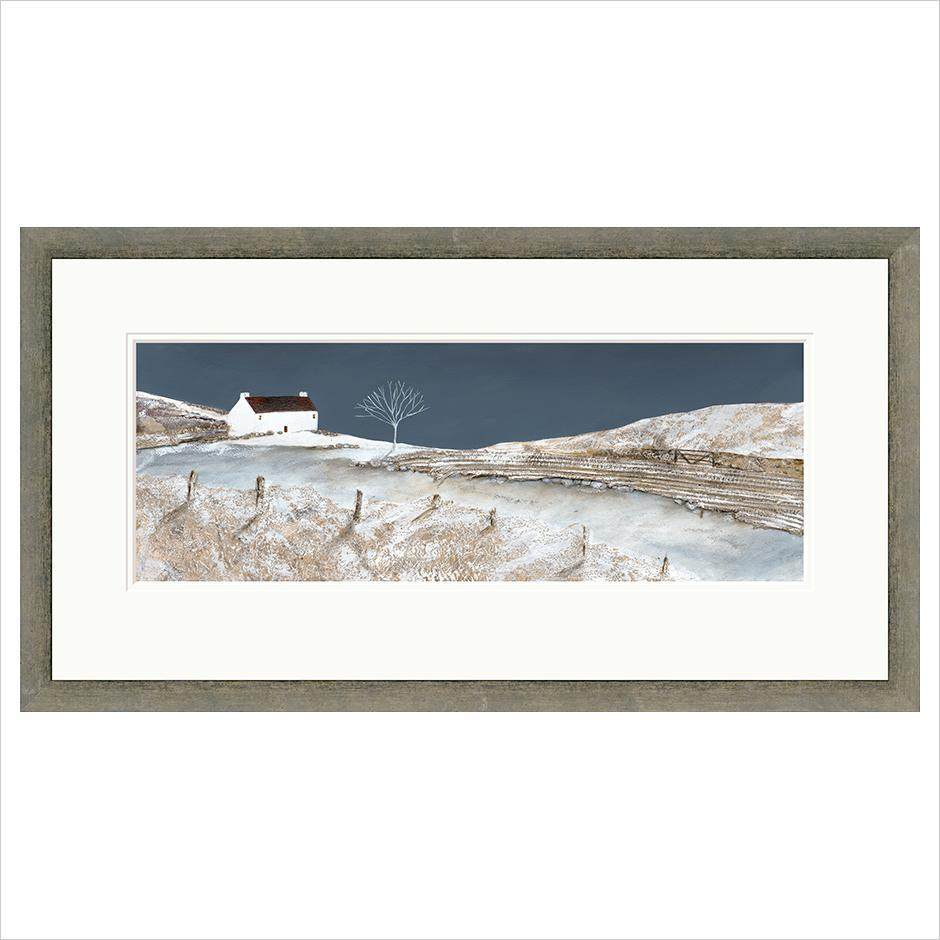 Limited Edition Print - Winter Cottage - FRAMED