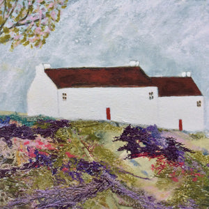 "Mixed Media Art print work by Louise O'Hara ""Meadow lodge"""