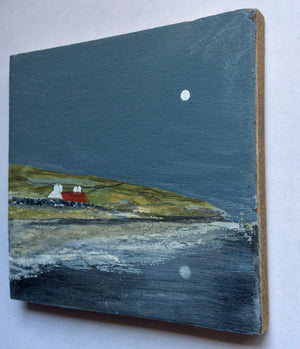 "Mixed Media Art on wood By Louise O'Hara - ""Hilltop Croft"""