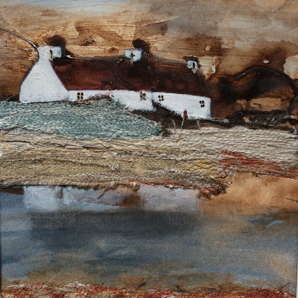 "Mixed Media Art Work  by Louise O'Hara - ""Storm clouds gathering"""