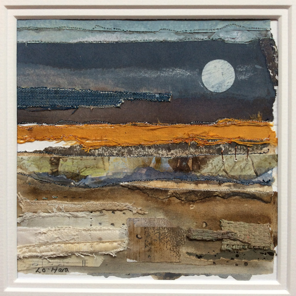 "Mixed Media Art By Louise O'Hara - ""Warm horizon"""