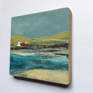 "Mixed Media Art on wood By Louise O'Hara - ""The West Coast"""