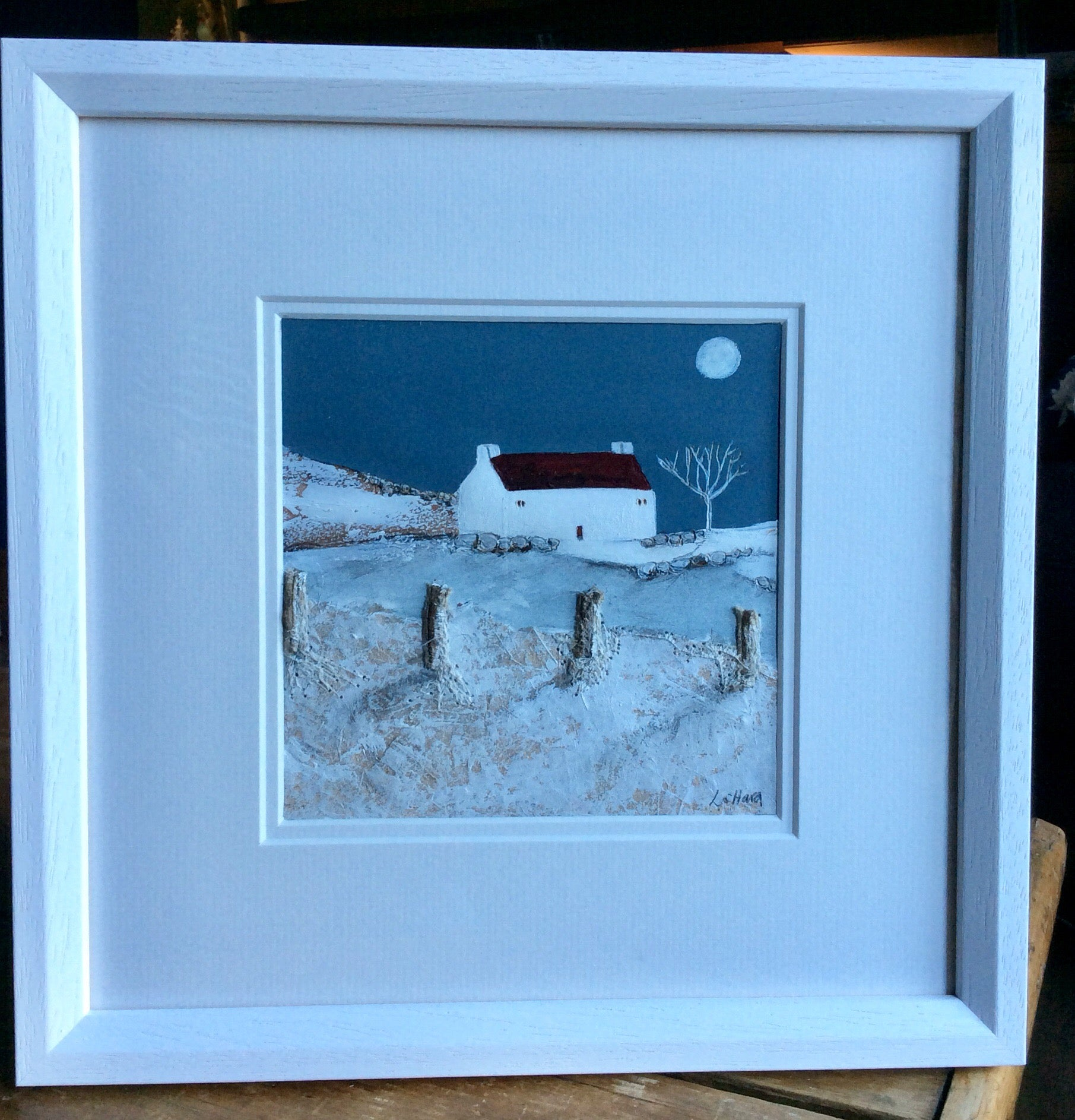 "Mixed Media Art By Louise O'Hara - ""A moonlit chill"""