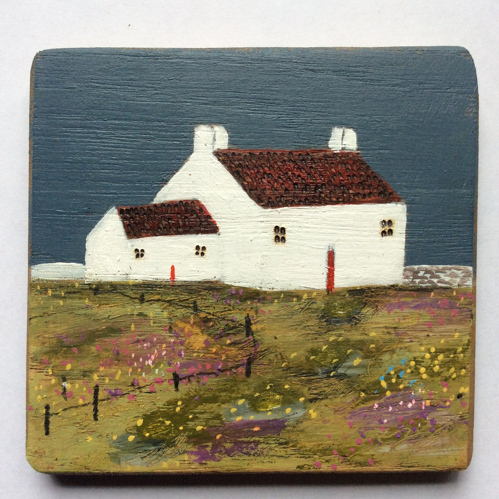 "Copy of Mixed Media Art on wood By Louise O'Hara - ""A little Cottage garden"""