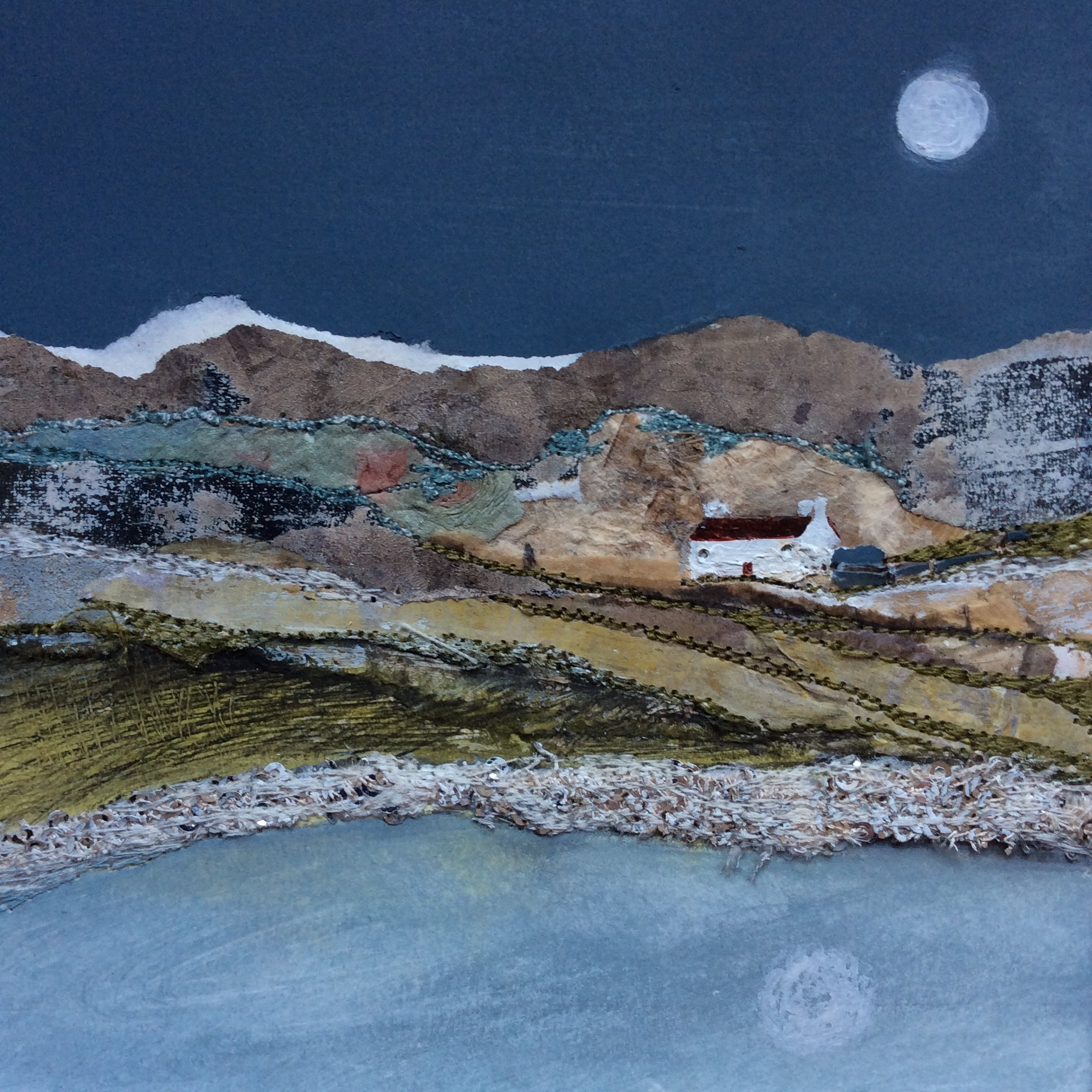 "Mixed Media Art By Louise O'Hara - ""Reflections from a Croft"""