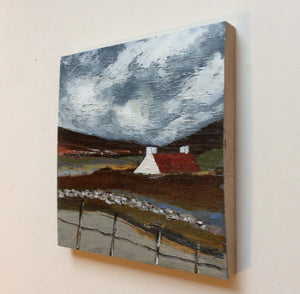"Mixed Media Art on wood By Louise O'Hara - ""Storm clouds"""