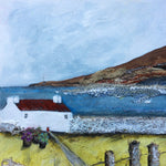"Mixed Media Art work by Louise O'Hara ""The lighthouse in the distance"""