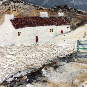 "Mixed Media Art work by Louise O'Hara ""Winter scene"""