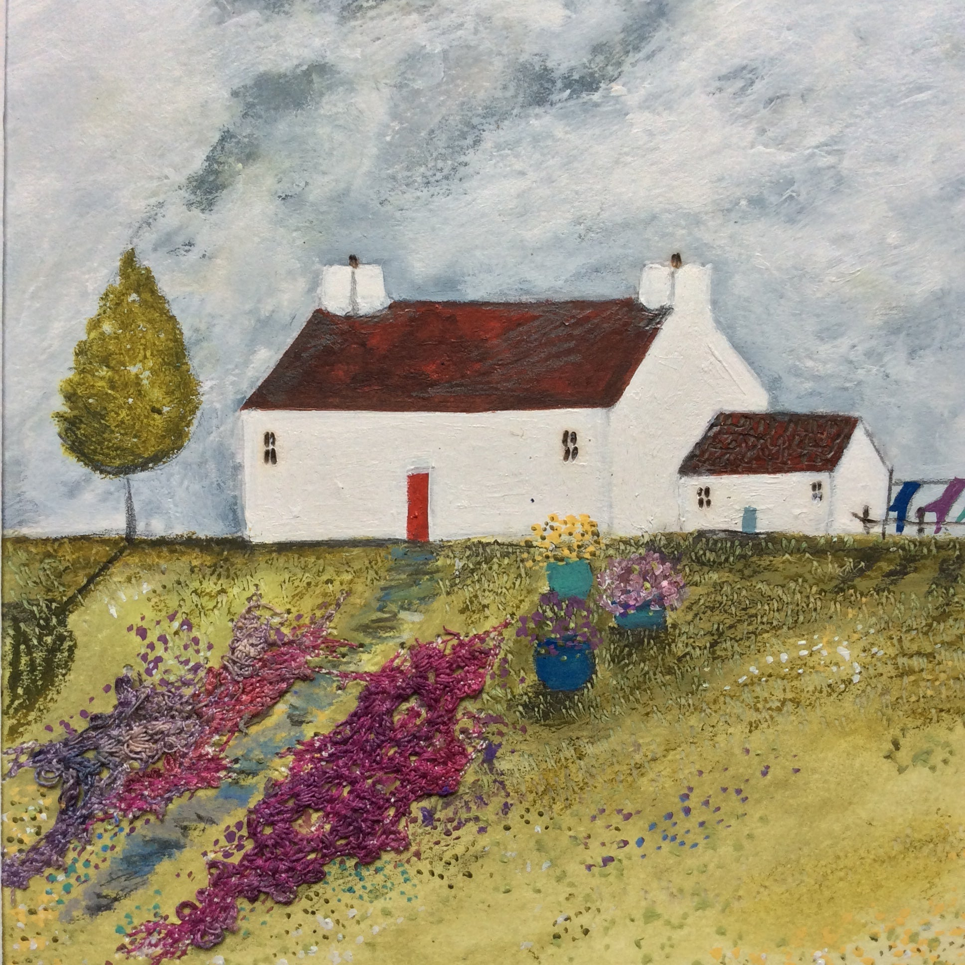 "Mixed Media Art By Louise O'Hara - ""A calm breeze blew from the West"""