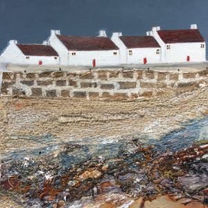 "Mixed Media Art By Louise O'Hara - ""Land end view"""