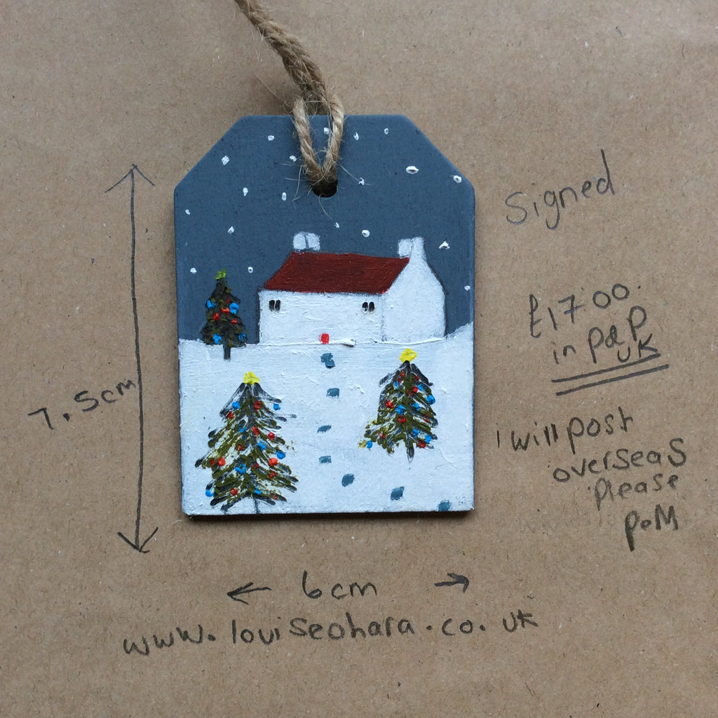 Mixed Media Art work by Louise O'Hara - Christmas Decoration design 3