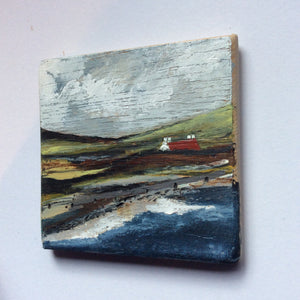 "Mixed Media Art on wood By Louise O'Hara - ""The sound of the waves"""