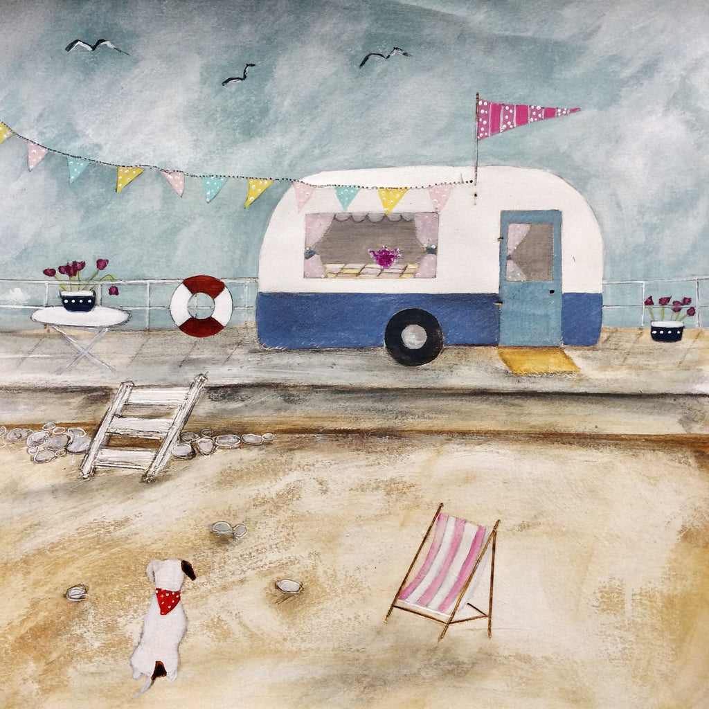 "Mixed Media Art By Louise O'Hara - ""A weekend at the seaside"""