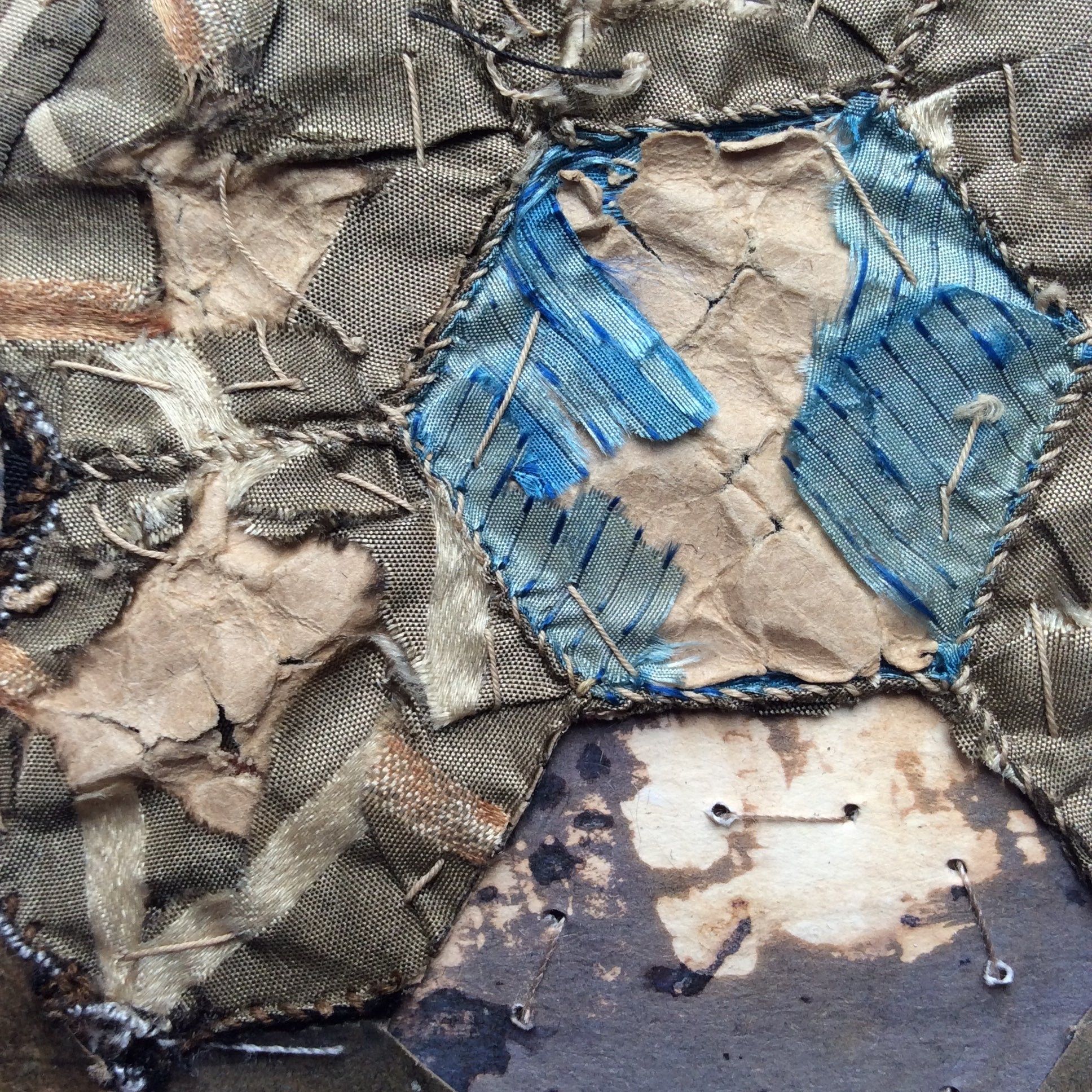 "Mixed Media Art work by Louise O'Hara ""Across the causeway"""