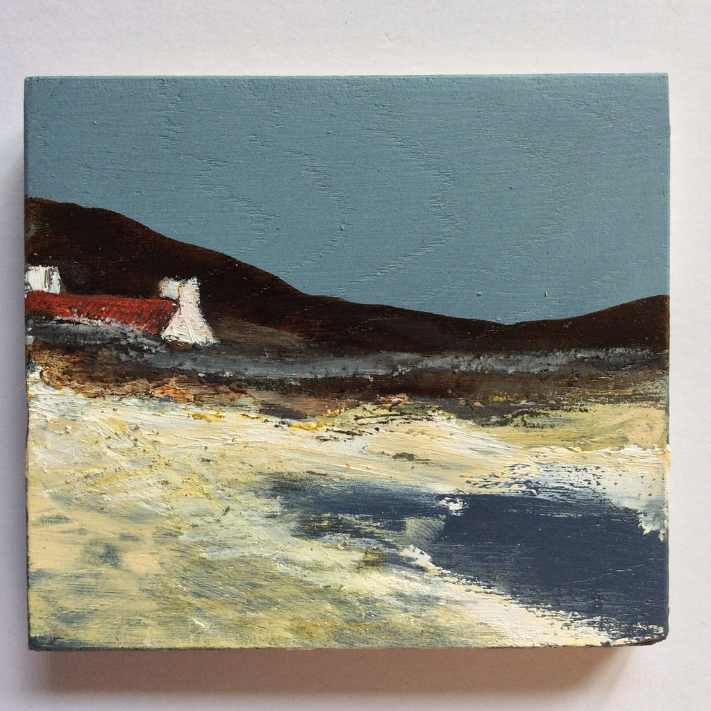 "Mixed Media Art on wood By Louise O'Hara - ""Early Evening high tide"""