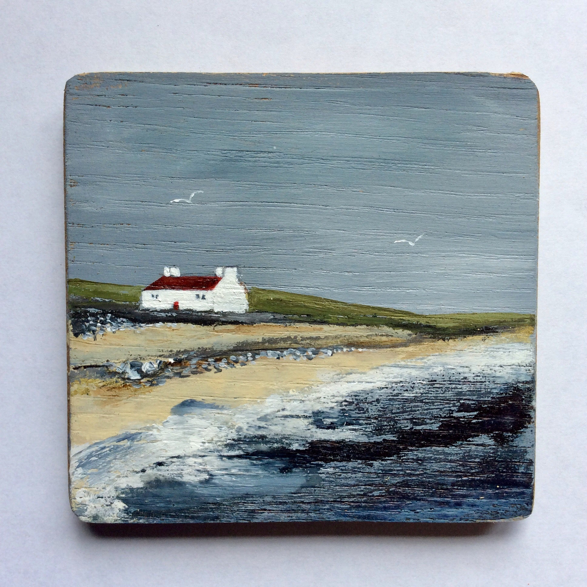"Mixed Media Art on wood By Louise O'Hara - ""Sea View"""