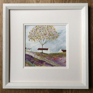 "Mixed Media Art print work by Louise O'Hara ""The old tree in the meadow"""
