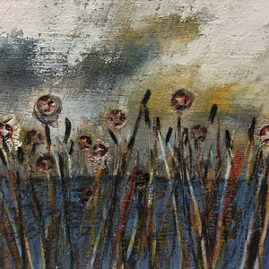 "Mixed Media Art on wood By Louise O'Hara - ""Calm 3"""