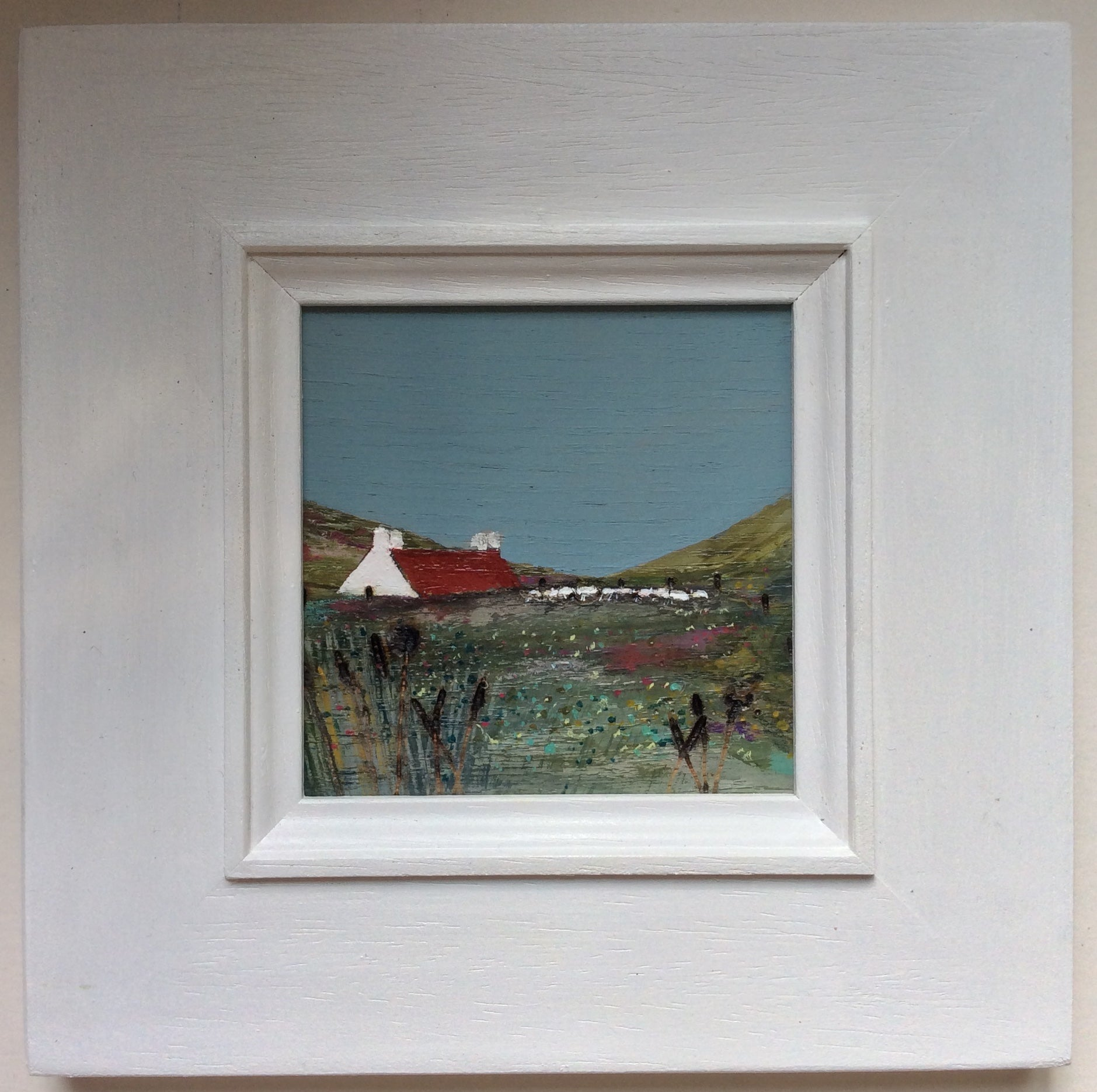 "Mixed Media Art on wood By Louise O'Hara - ""Crofters Lea"""